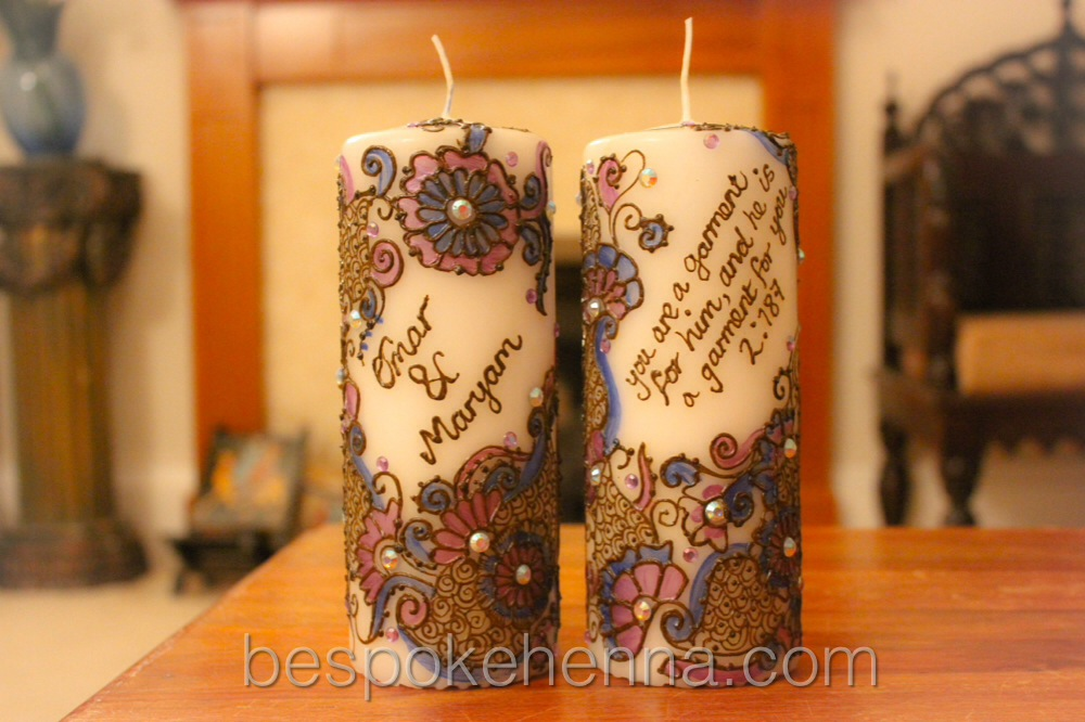 Mehndi Candles Personalised : Argwani pair code